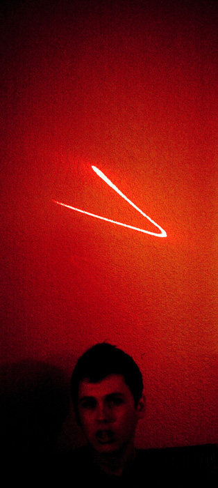 They had a mysterious laser thing on the wall.