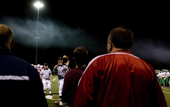 Smoke and footballs